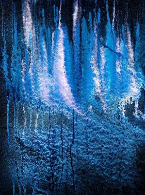 Abstract Painting - Moonlit Forest by Hakon Soreide
