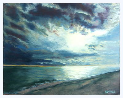 Moonlit Sea Print by Sue Gardner