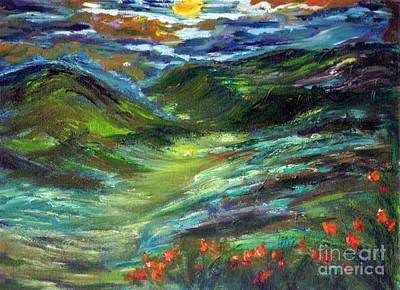 Painting - Moonshine Valley by Mary Sedici