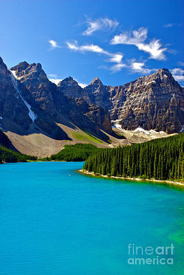 Moraine Lake Print by James Steinberg and Photo Researchers