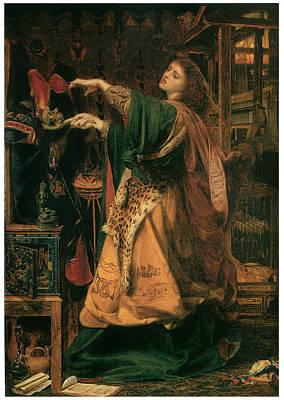 Morgan-le-fay Print by Frederick Sandys