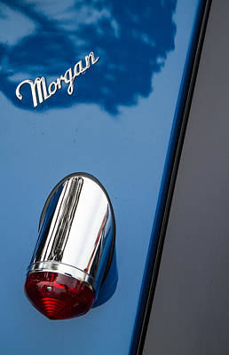 Morgan Plus 8 Taillight And Name Badge Print by Roger Mullenhour