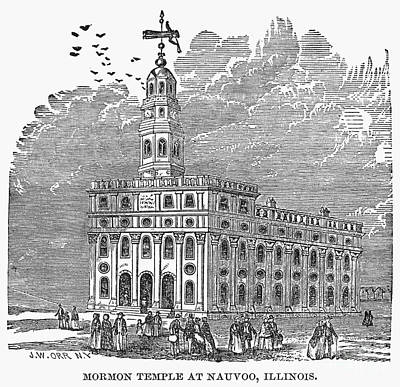 Mormon Temple, Nauvoo Print by Granger