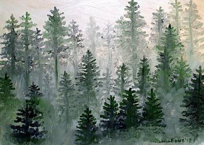 Brake Painting - Morning In The Mountains by Shana Rowe Jackson