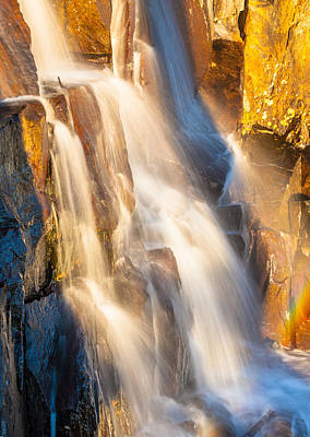 Morning Light On Lower Falls Print by Marc Crumpler