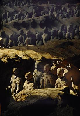 Qin Shi Huang Photograph - Morning Sun Shining On Chinas Great by O. Louis Mazzatenta