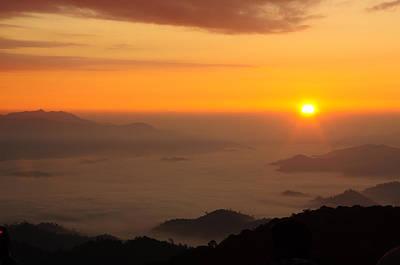 Morning Sunrise Over Black Forest Mist  Original by Preecha Sirima