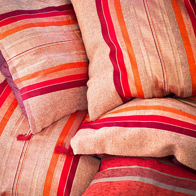 Moroccan Cushions Print by Tom Gowanlock