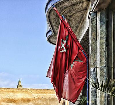 Morocco Flag I Print by Chuck Kuhn