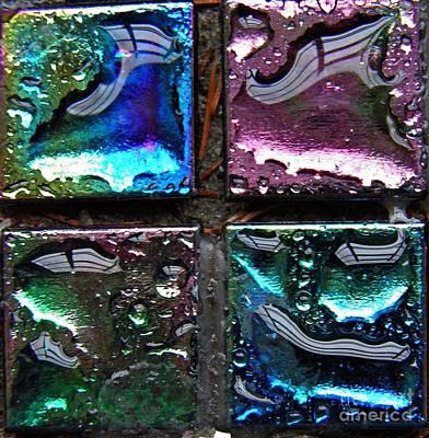 Iridescent Glass Photograph - Mosaic 15 by Sarah Loft