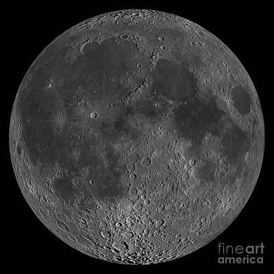 Mosaic Of The Lunar Nearside Print by Stocktrek Images