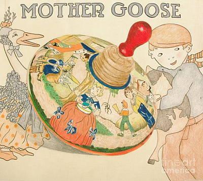 Mother Goose Spinning Top Original by Glenda Zuckerman