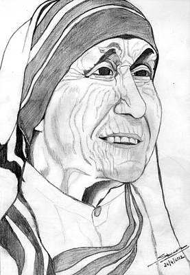 Shashi Kumar Drawing - Mother Of Love by Shashi Kumar
