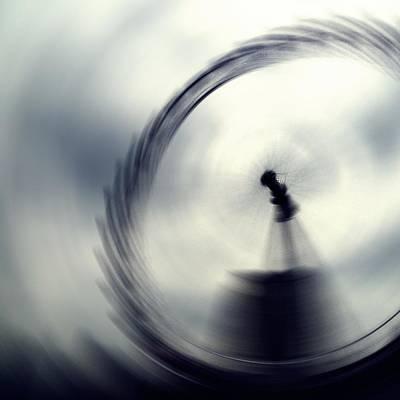 London Eye Digital Art - Motion by Sharon Lisa Clarke
