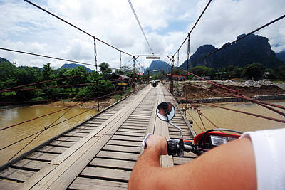 Human Limb Photograph - Motorbike Road Trip by Thepurpledoor