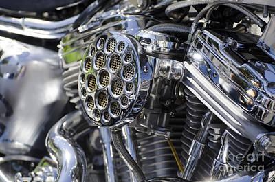 Motorcycle Engine Print by Mats Silvan