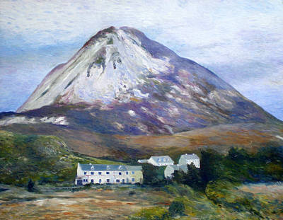 Painting - Mount Errigal Co. Donegal Ireland 1997 by Enver Larney