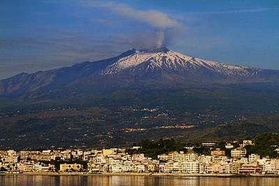 Mount Etna Print by David Smith