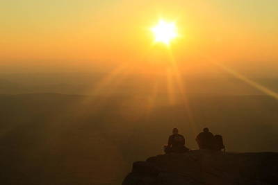 Mount Monadnock Hikers Sunset Print by John Burk