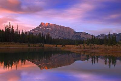 Mount Rundle And The Cascade Ponds In Print by Carson Ganci