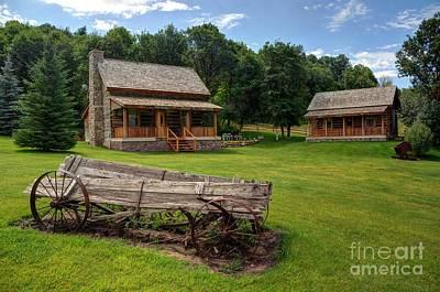 Log Cabin Photograph - Mountain Cabin - Rural Idaho by Gary Whitton