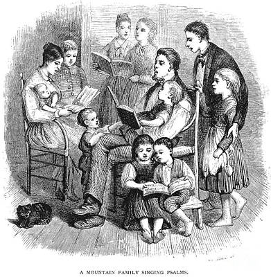Mountain Family, 1874 Print by Granger