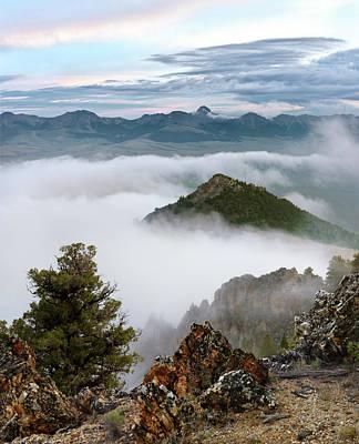 Mountain Fog Print by Leland D Howard