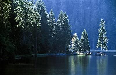 Mountain Lake In Arbersee, Germany Print by John Doornkamp