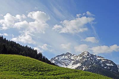 Vorarlberg Photograph - Mountain Landscape In The Alps by Matthias Hauser