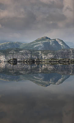 Mountain Reflection Print by Andy Astbury