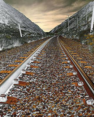 Mountain Tracks Original by James Steele