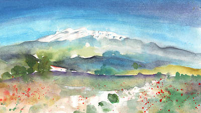 Mountains By Agia Galini Print by Miki De Goodaboom