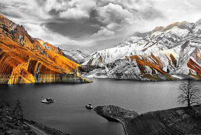 Mountains In The Valley 2 Print by Sumit Mehndiratta