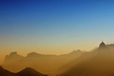 Christ The Redeemer Photograph - Mountains Of Rio De Janeiro by Antonello