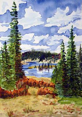 Mountian Lake Print by Linda Pope