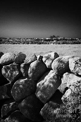 Mourne Granite Irish Dry Stone Wall Ireland Print by Joe Fox