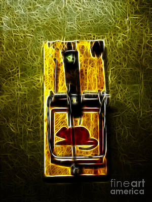 Pest Digital Art - Mouse Trap - Version 2 by Wingsdomain Art and Photography