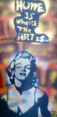 Conscious Painting - Ms.monroe by Tony B Conscious
