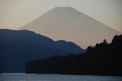 Fuji Photograph - Mt. Fuji In Silhouette by Gregor