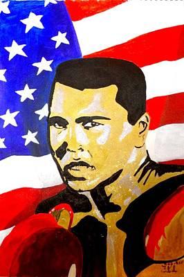 Muhammad Ali Print by Estelle BRETON-MAYA