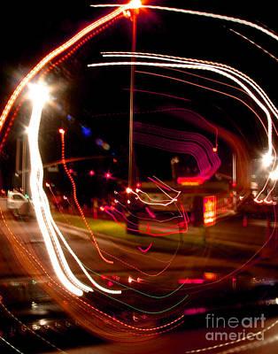 Abstract Digital Light Trails Photograph - Munchies After 2 by Peter Piatt
