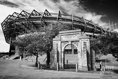 Murrayfield Stadium With War Memorial Arch Edinburgh Scotland Print by Joe Fox