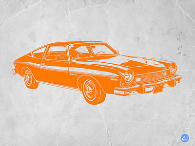 Muscle Car Print by Naxart Studio