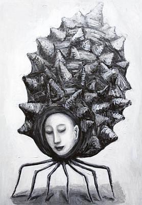 Muse In A Shell Print by Kazuya Akimoto