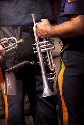 Music - Trumpet - Police Marching Band  Print by Mike Savad