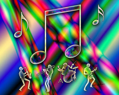Music Print by Anthony Caruso