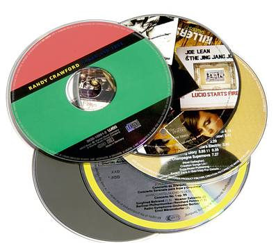 Music Cds Print by Johnny Greig