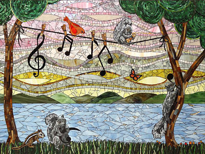Music Play Print by Barbara Benson Keith