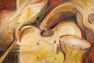 Painting - Musical Abstract by John and Lisa Strazza