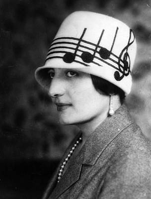 Cloche Hat Photograph - Musical Hat by General Photographic Agency